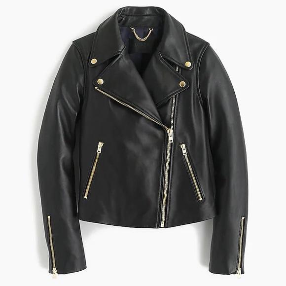 J. Crew Jackets & Blazers - Barely Worn Black Leather Jacket, JCREW, XS/00